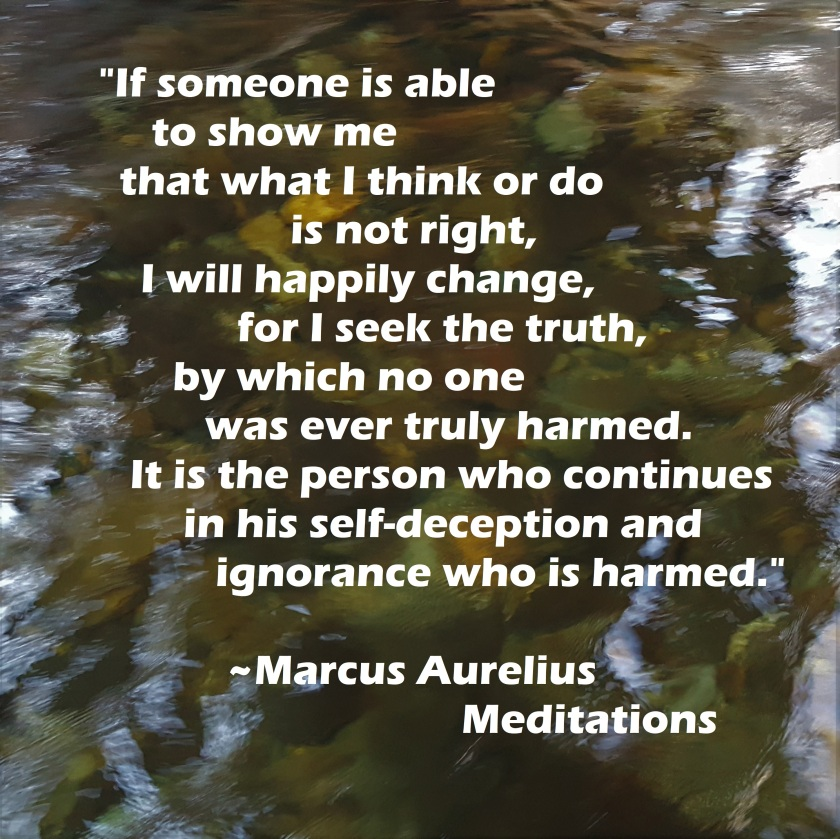 Marcus Aurelius - I will happily change