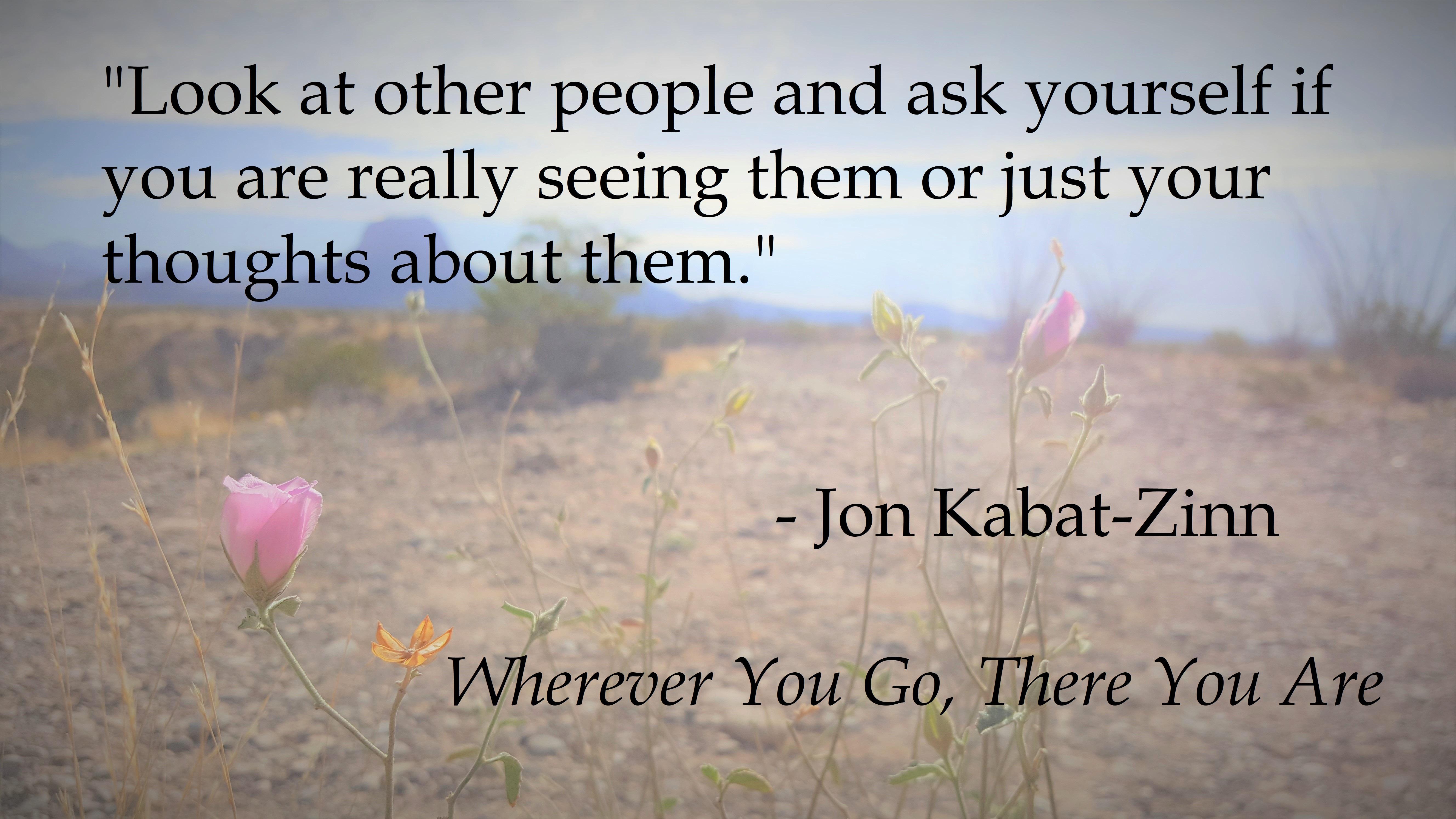 Jon-Kabat Zinn - Really seeing people