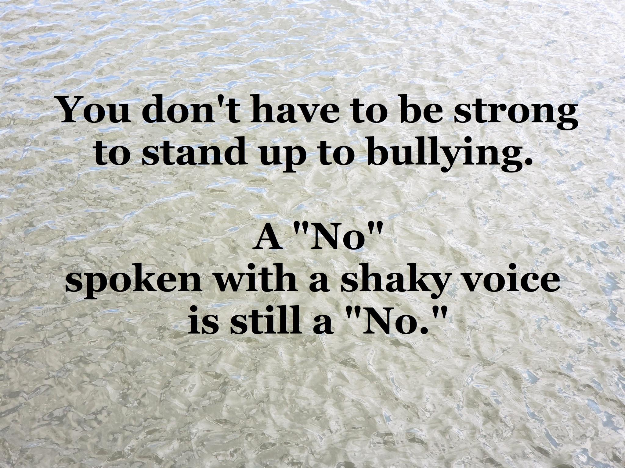 ME - saying no to bullying 2