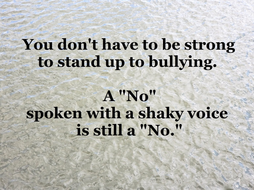 ME - saying no to bullying 2