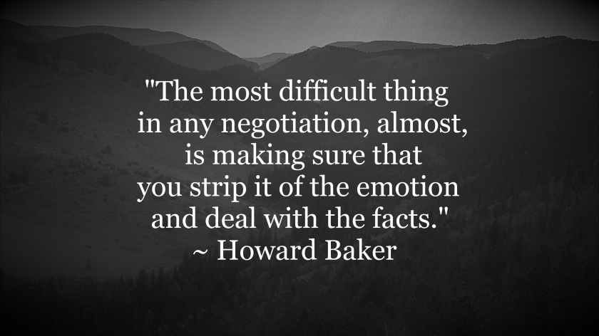 Howard Baker - take emotion out of conflict