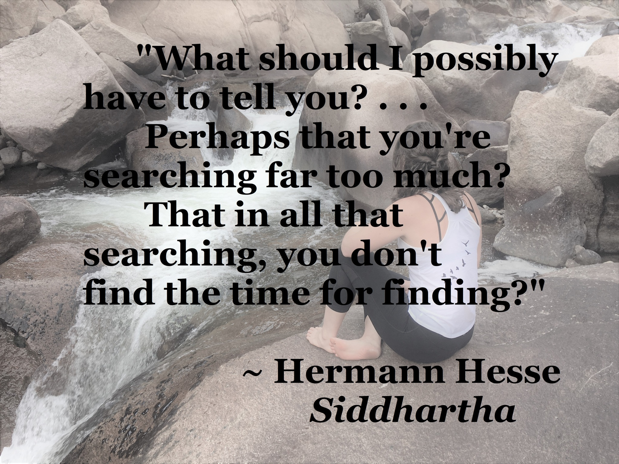 Hermann Hesse Siddhartha - too much searching for finding