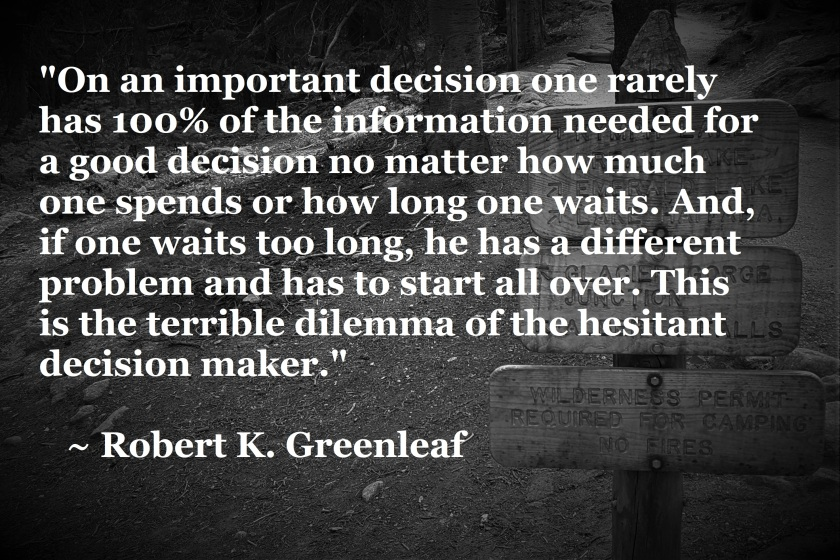 Robert K Greenleaf - overchoice