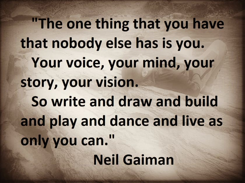 Neil Gaiman - as only you can brown