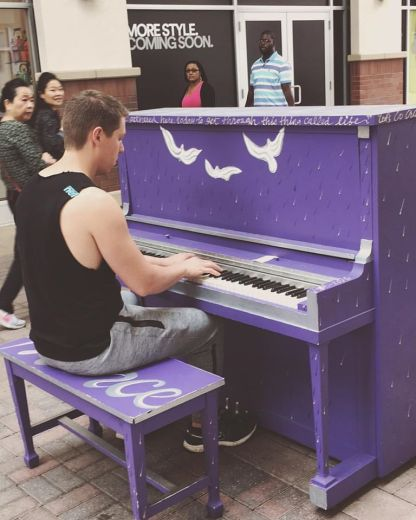 001 purple piano
